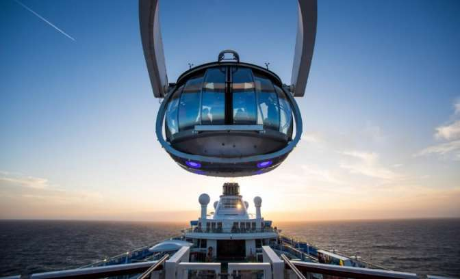 North Star hoogste uitzicht op zee Anthem of the Seas