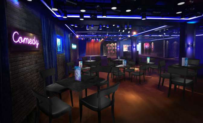 Comedy bar van Norwegian Escape