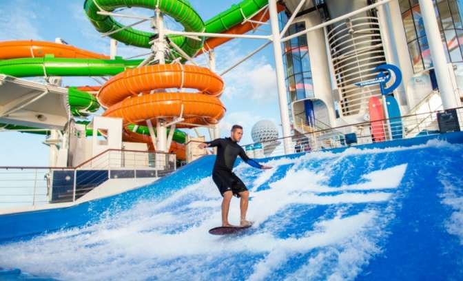De flowrider op de Liberty of the Seas