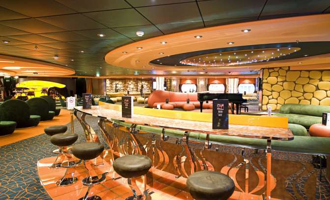 Cocktailbar op de MSC Fantasia