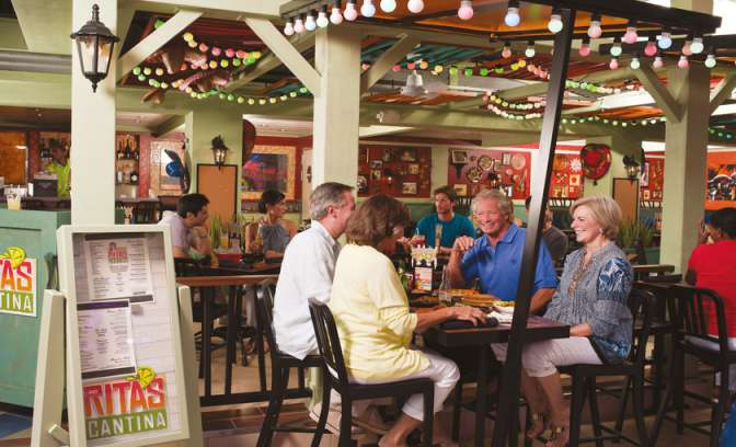 De Rita's Cantina op de Allure of the Seas van Royal Carribean