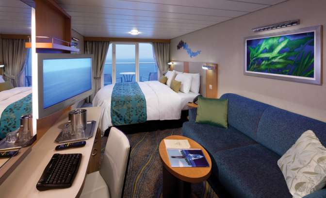 Een balkonhut op de Allure of the Seas van Royal Carribean