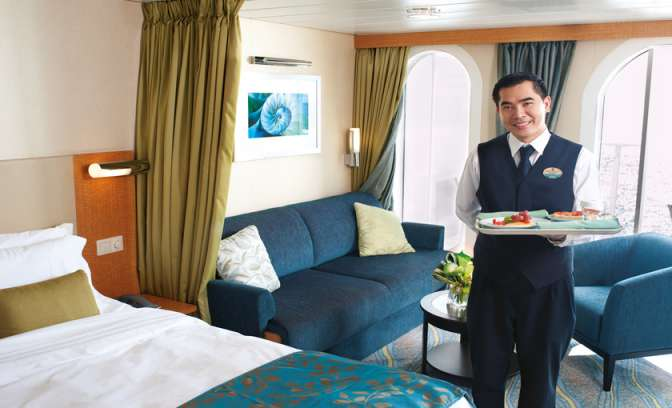 Roomservice op de Allure of the Seas van Royal Carribean