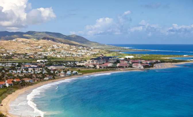 De kust in St. Kitts